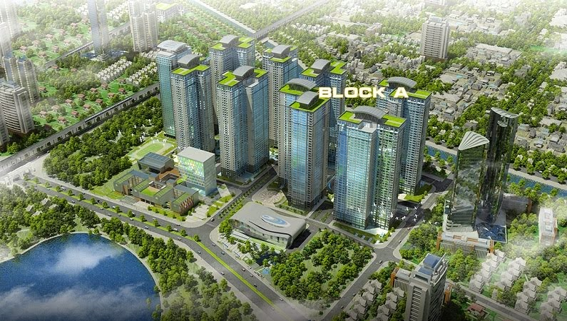 Khu Block A: Gồm 4 Tòa, 2 Tầng Hầm Thông Đế
