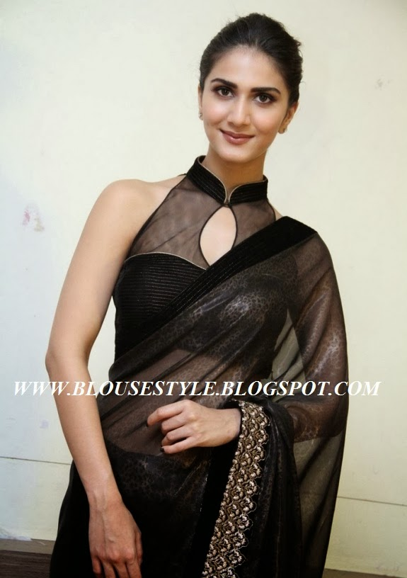 ACTRESS VAANI KAPOOR IN FRONT NECK BLOUSE STYLE