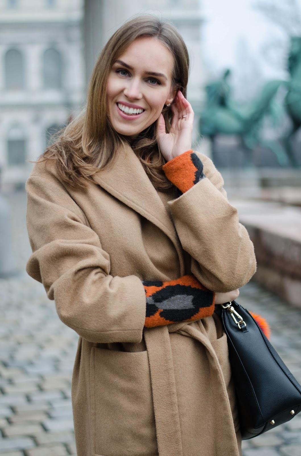 kristjaana mere mango camel coat lindex leopard print sweater