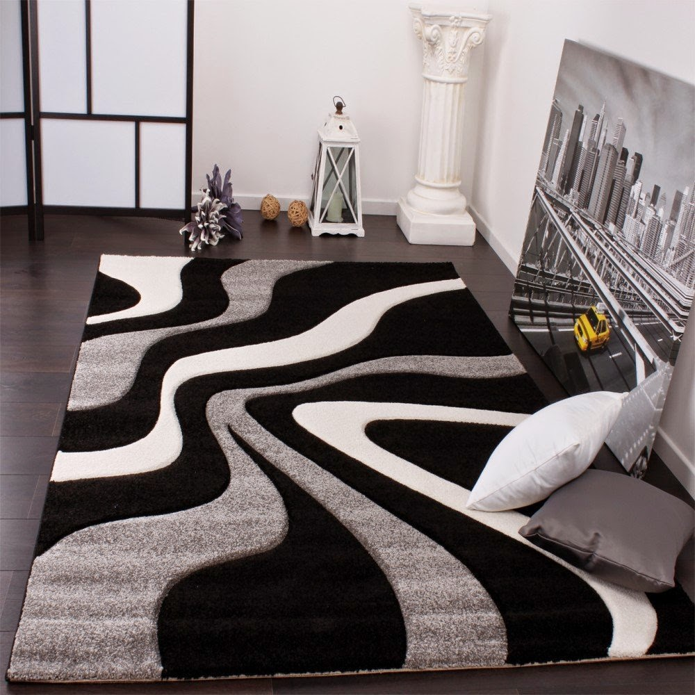 tapis salon rouge blanc noir avec des id es. Black Bedroom Furniture Sets. Home Design Ideas