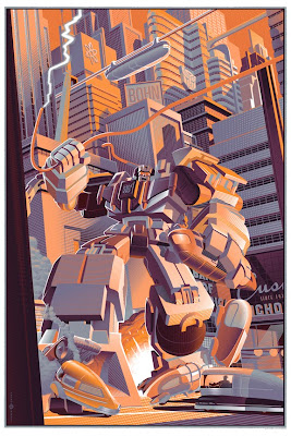 """Devastator"" Transformers Variant Screen Print by Laurent Durieux"