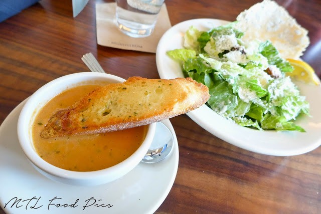 Crab Bisque and Caesar Salad - Bazille menu