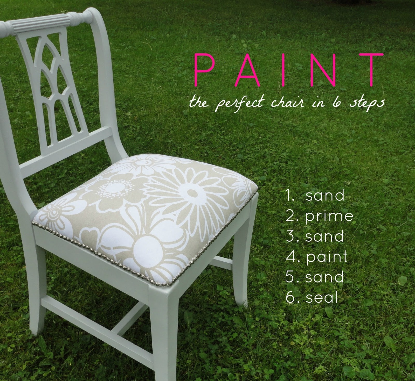 Here Are My 6 Easy Steps To Painting The Perfect Chair.. Full resolution‎  portraiture, nominally Width 1600 Height 1471 pixels, portraiture with #BF0C6E.