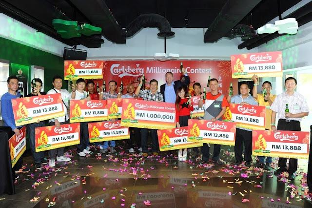 Carlsberg Millionaire 2015 winners RM13,888