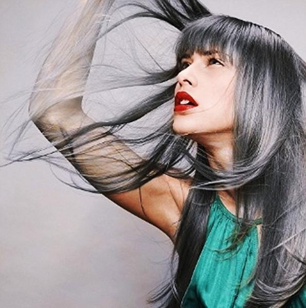 Темный серый цвет волос в домашних условиях