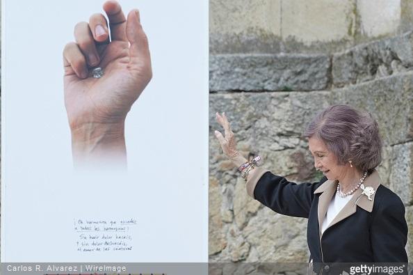 Queen Sofia visits the Basilica of Santa Teresa in Salamanca
