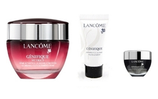 zestaw kosmetyków firmy Lancome, Lancome Genifique Youth Activating Cream, Genifique Youth Activating Concentrate, Lancome Genifique Yeux