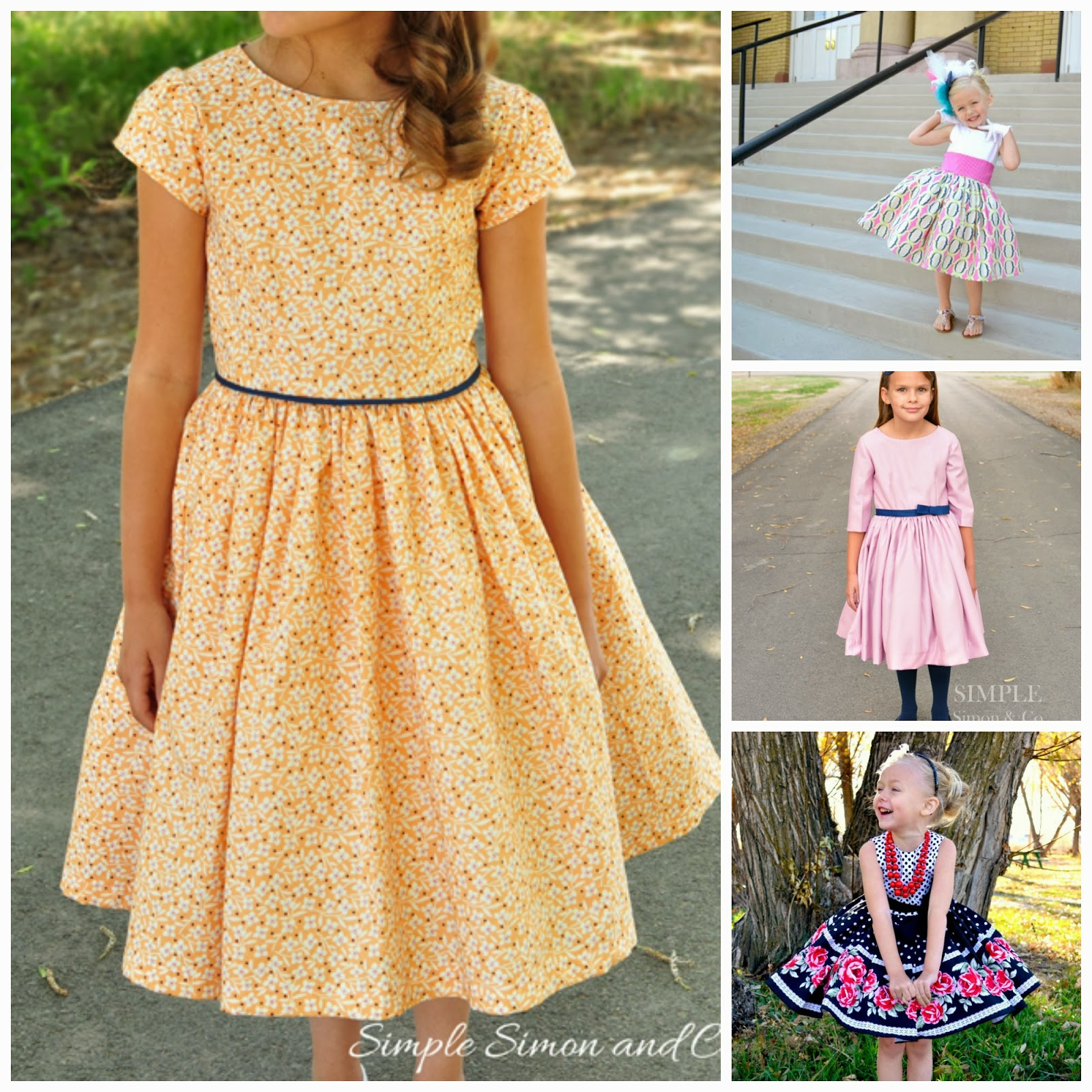 Dress with a fluffy skirt. Pattern dress with a full skirt 86