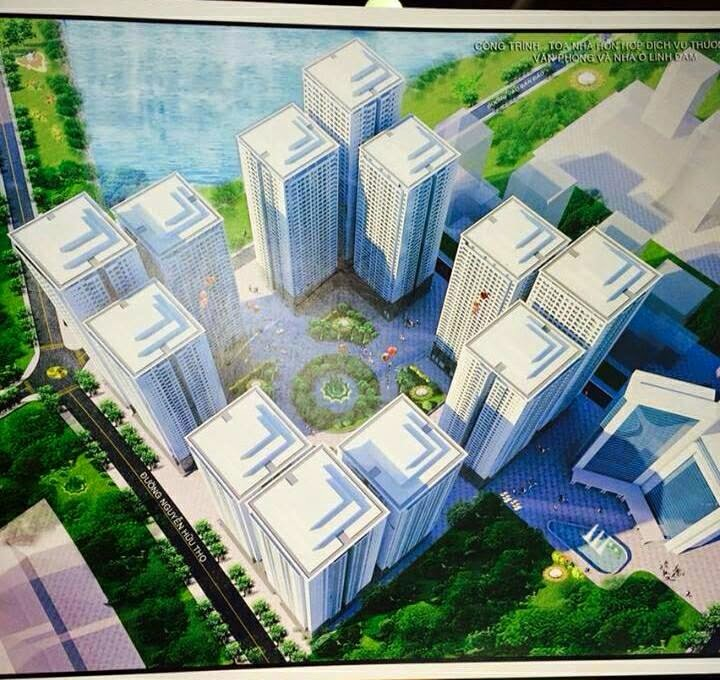 Tổng thể dự án Chung cư HH4 Linh Đàm