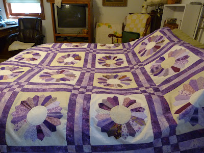orchid flowers quilt top