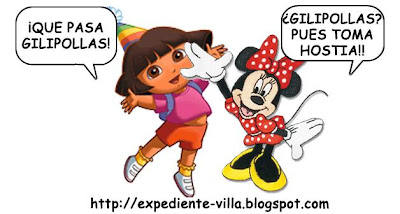 dora la exploradora y minnie mouse pelea