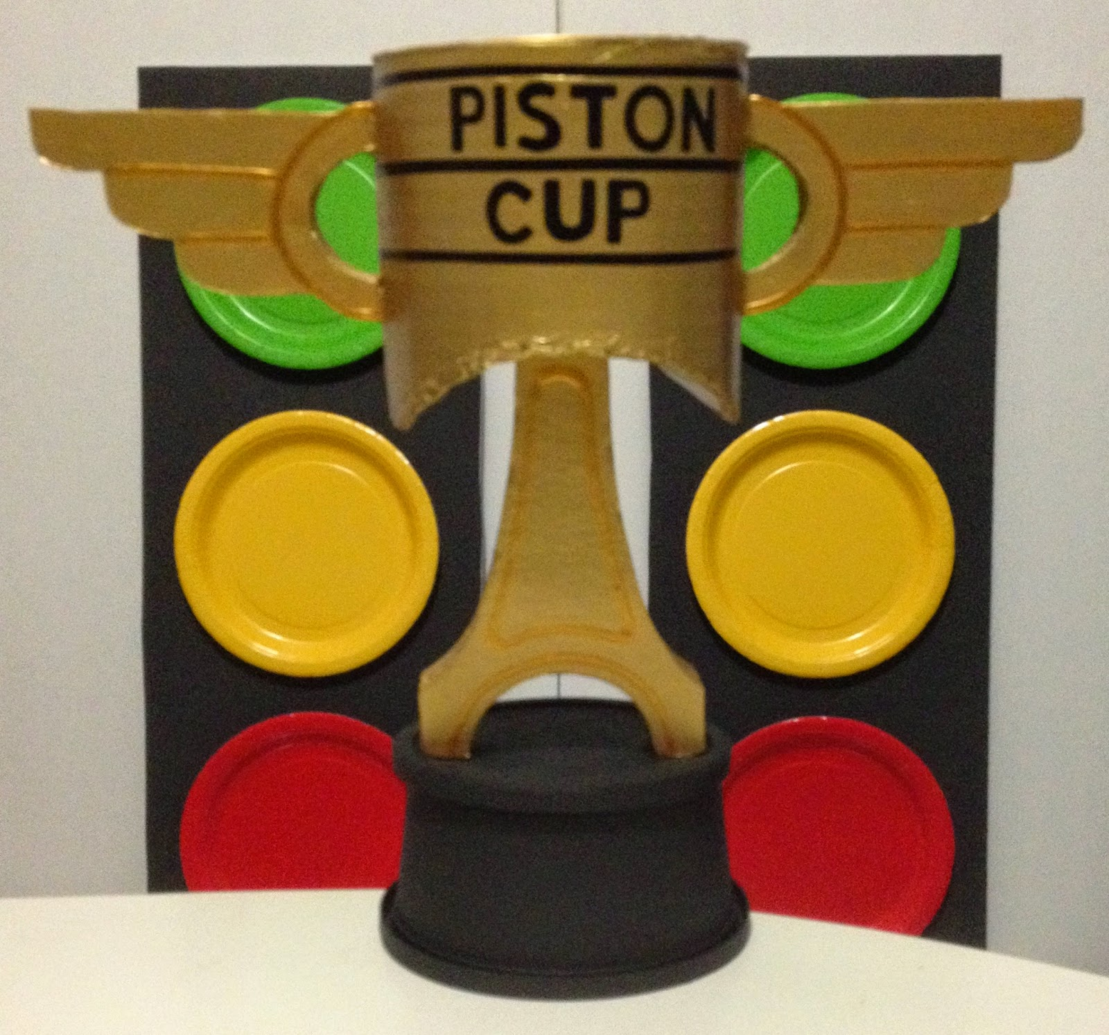 Diy disney cars piston cup
