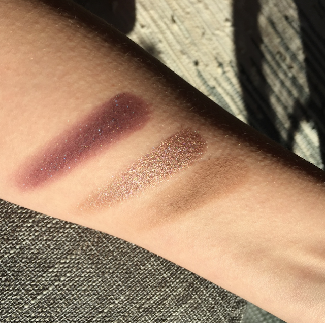 Urban Decay Lounge, Urban Decay Solstice, Urban Decay Scorpio, Colourpop Bae, Urban Decay Naked, NARS Dual Intensity Eyeshadow in Himalia swatches