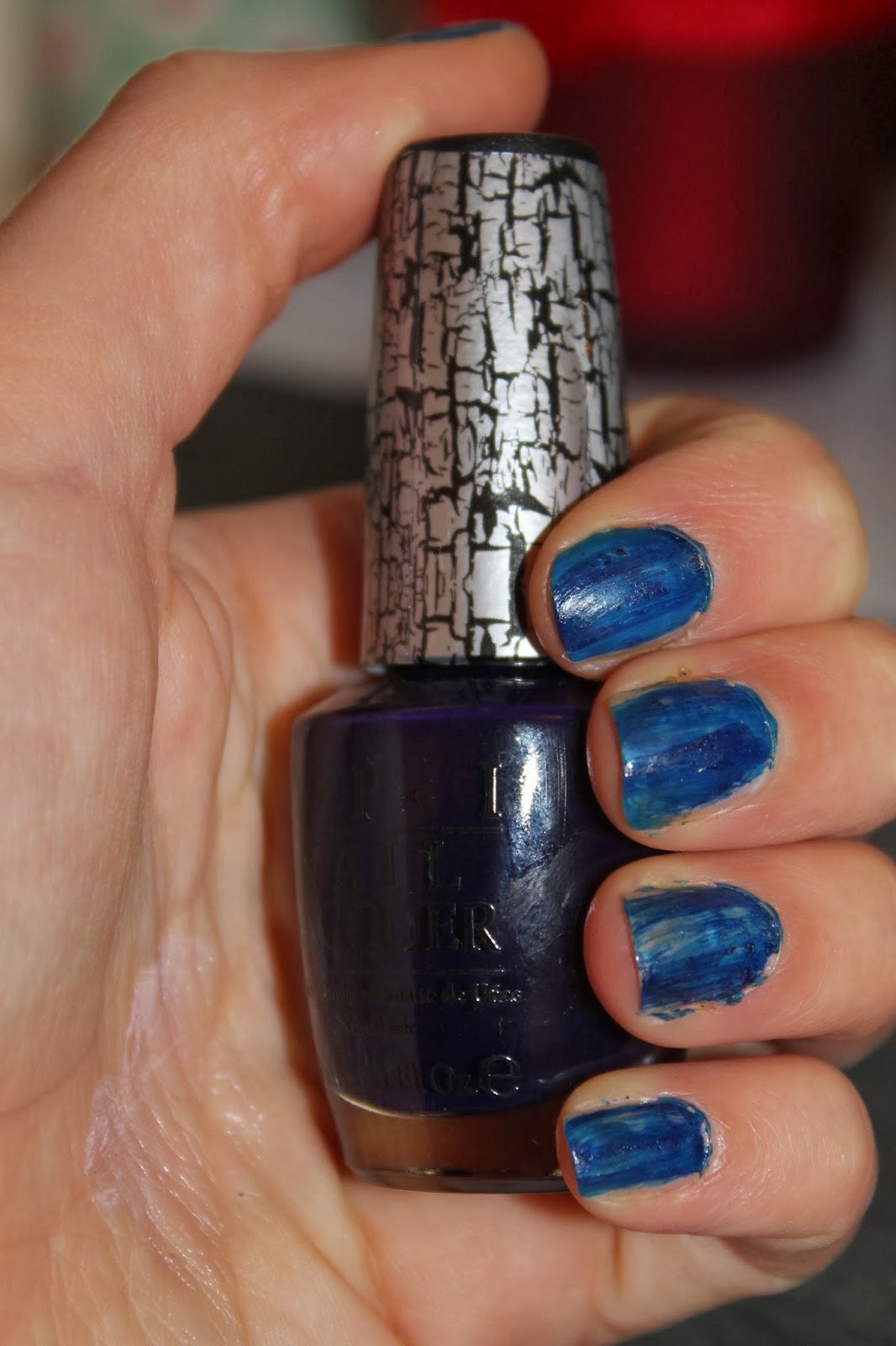 Fiocco Bianco: OPI Navy Shatter - Worst Polish EVER