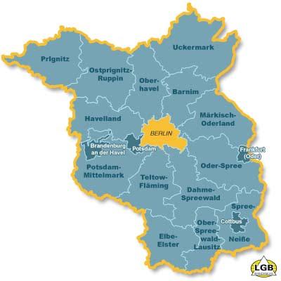 Karte der Provinz Brandenburg