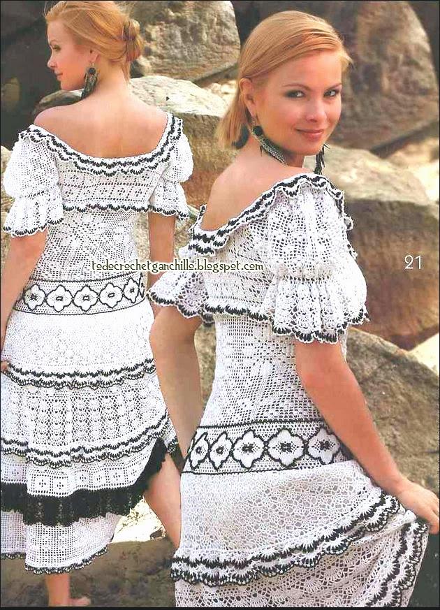 Vestido super romántico!   Todo crochet