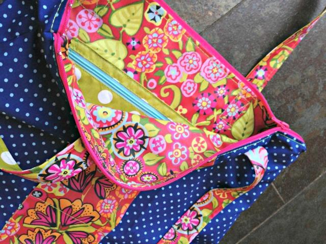 Sew Along Beispiel Taschenspieler Joker Einkaufstasche aus Wachstuch