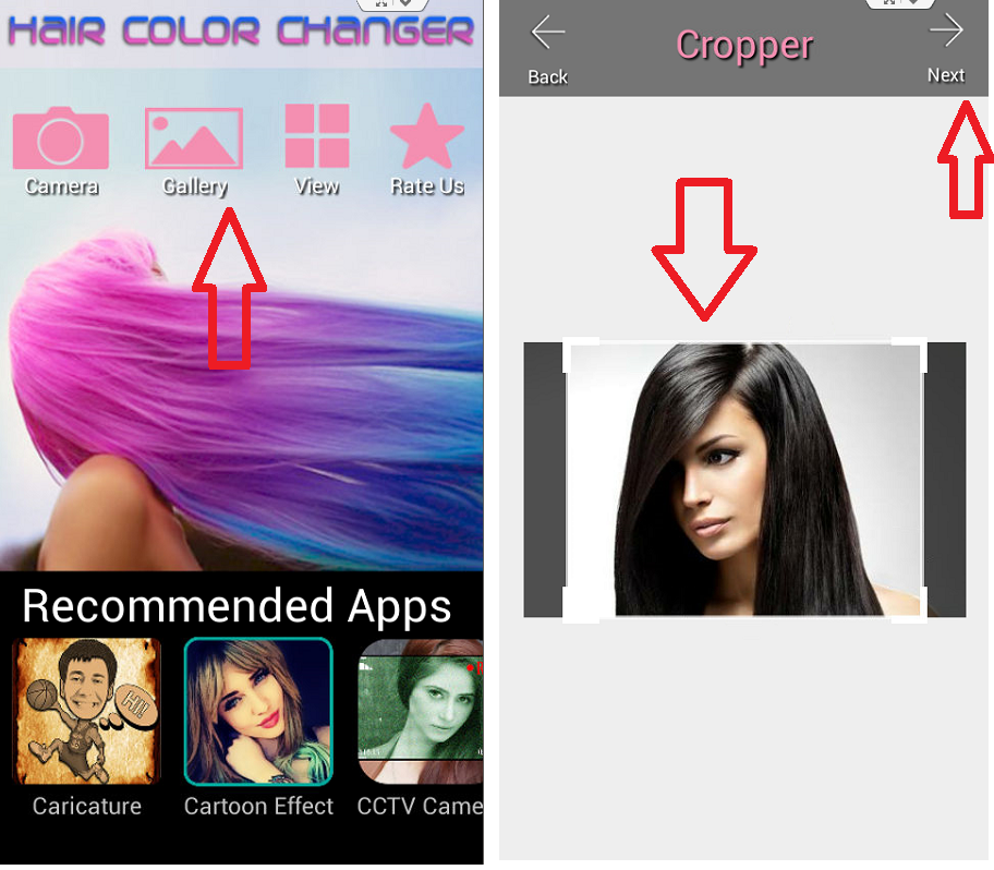 Learn New Things Change Your Picture Hair Color In Android Phone