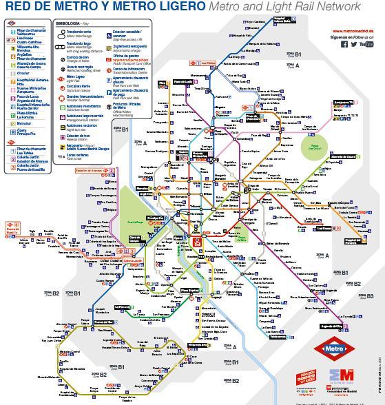 Mapa Metro Madrid Canillas