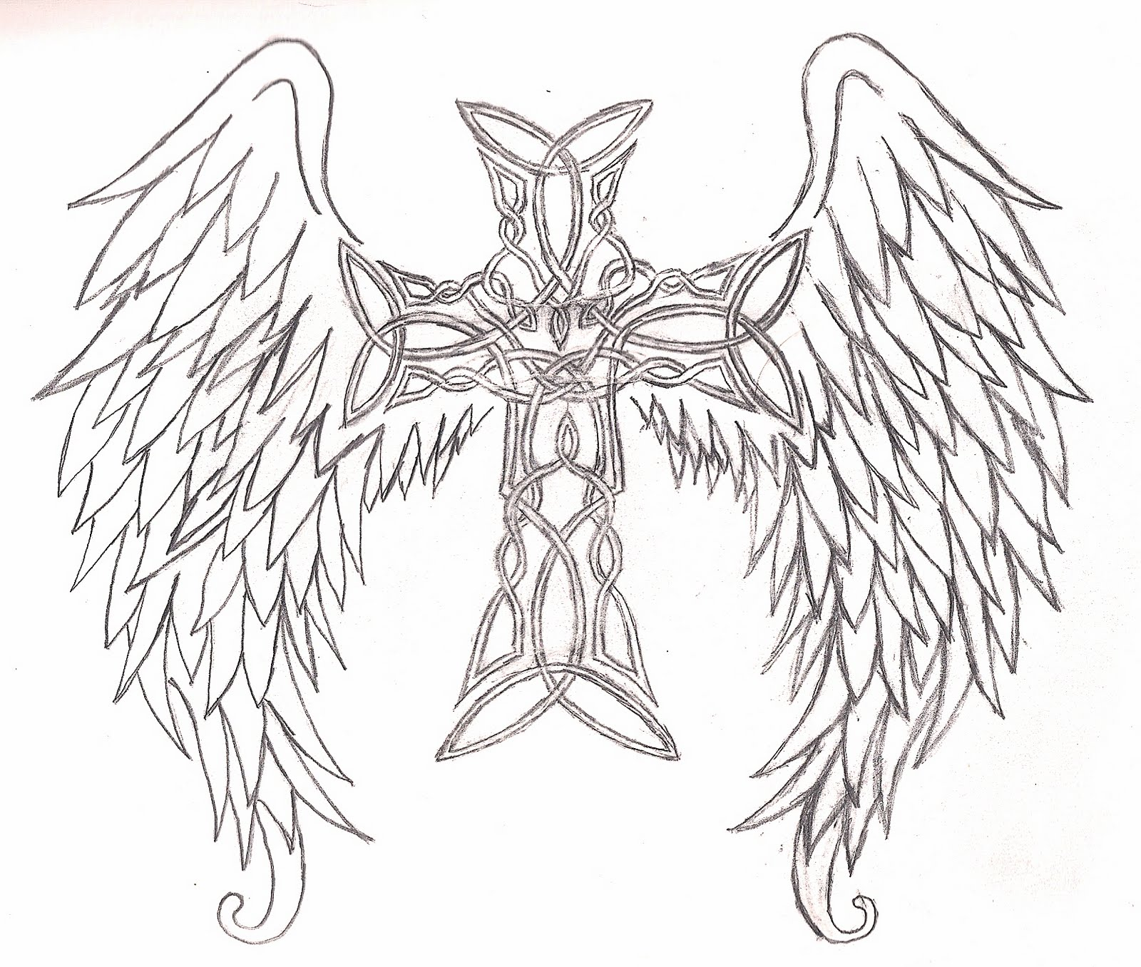 Cool Drawings of Crosses with Wings