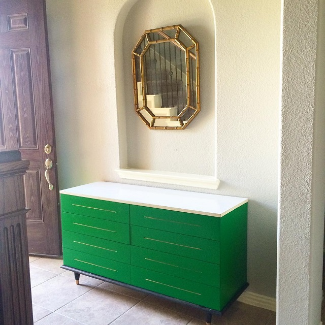 #thriftscorethursday Week 74 | Instagram user: theeventmaker shows off this Green Entryway Dresser