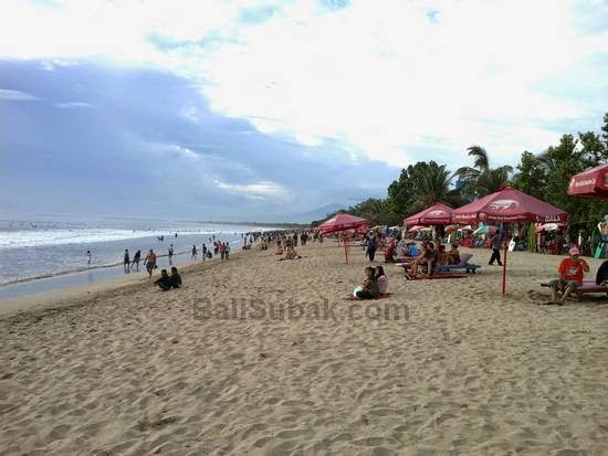 Enjoy the sunset at Kuta Beach