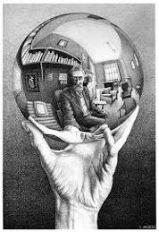 """""""Mano con globo reflectante"""" de M.C.Escher"""