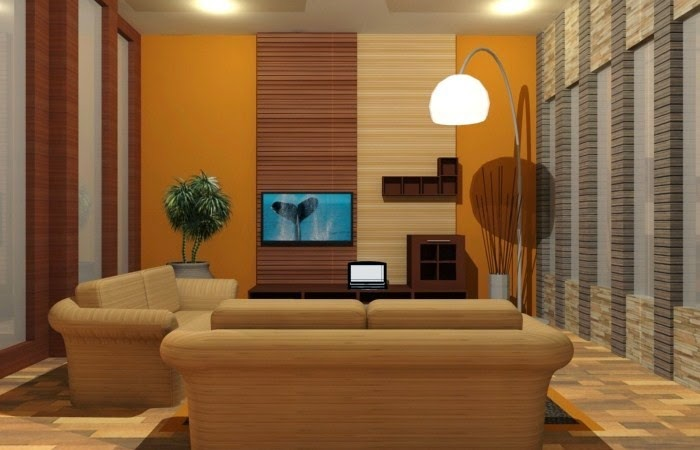 desain interior ruang keluarga rumah minimalis model