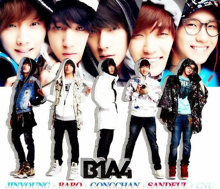 b1a4 gongchan, sandeul, baro, jinyoung, cnu