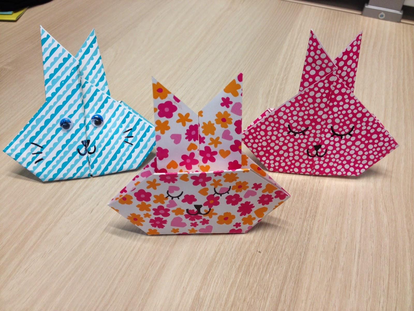 lapins origami pâques