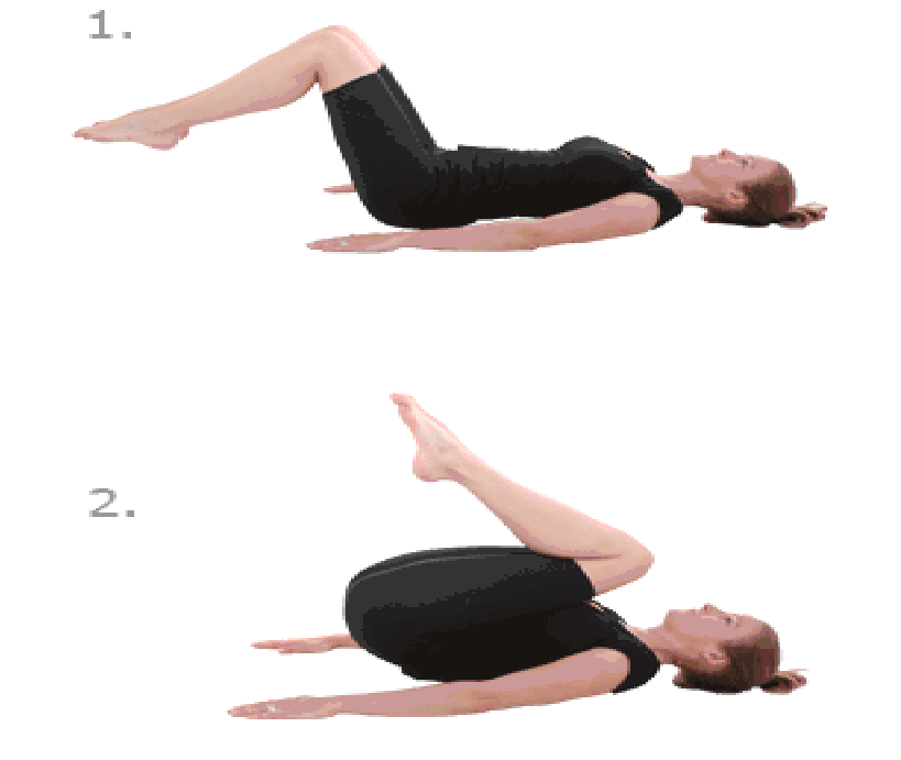 Step Exercises and Fitness: Ab exercises : step 2 : Bent ...