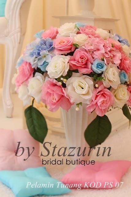 Warna Pastel baby Blue dan Warna Baby Pink Bagi Menghasilkan Pelamin