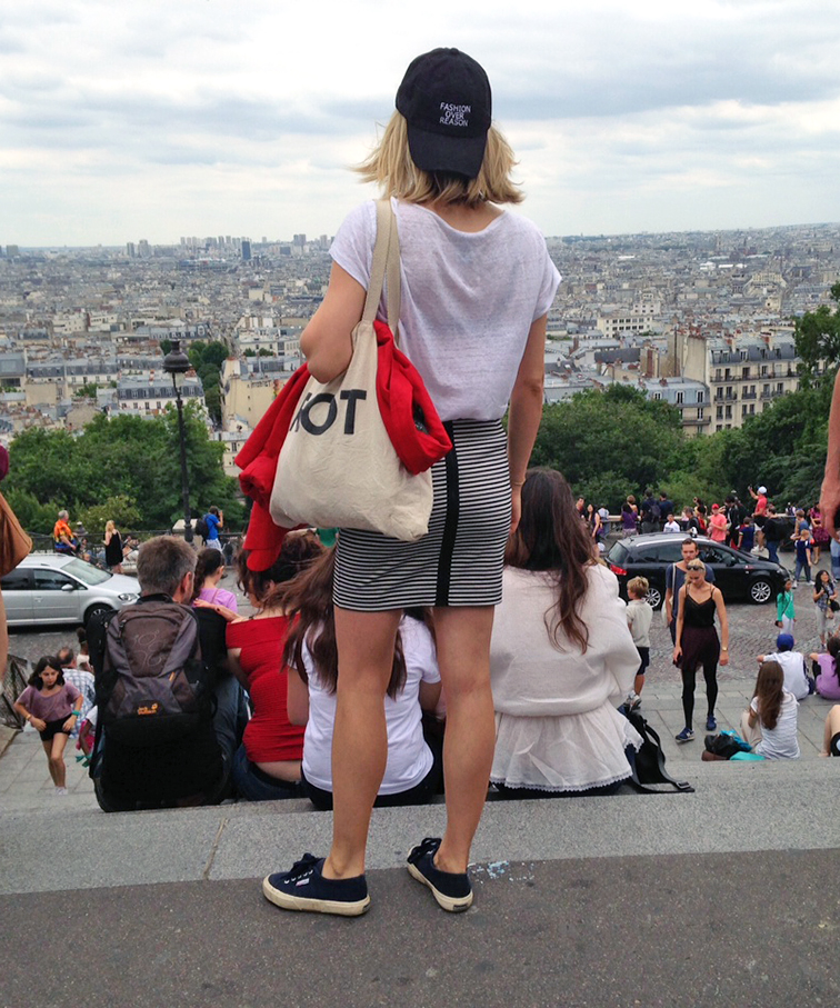 Fashion Over Reason looking over Paris from the top of the Sacré Coeur