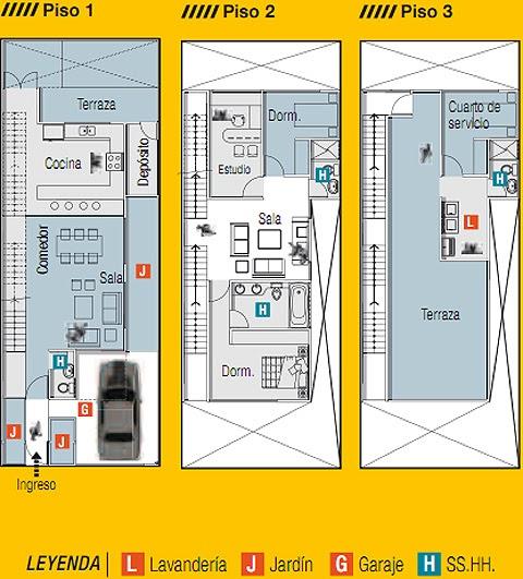 Planos de casas gratis y departamentos en venta planos de for Plano casa campo