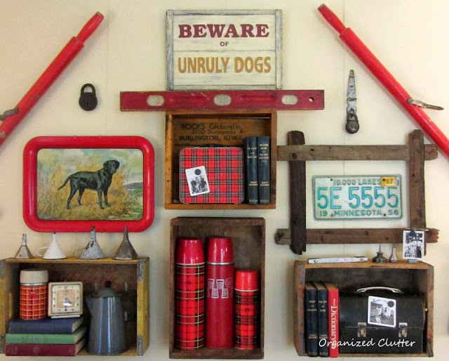 Junkers United with a Junk Gallery Wall www.organizedclutterqueen.blogspot.com