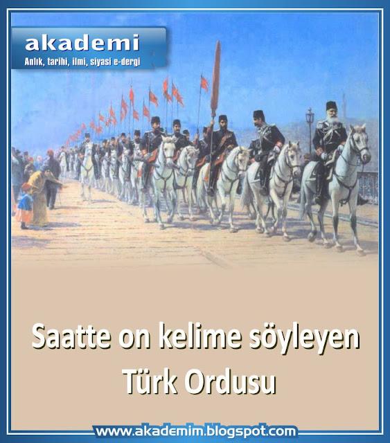 Saatte on kelime söyleyen Türk Ordusu