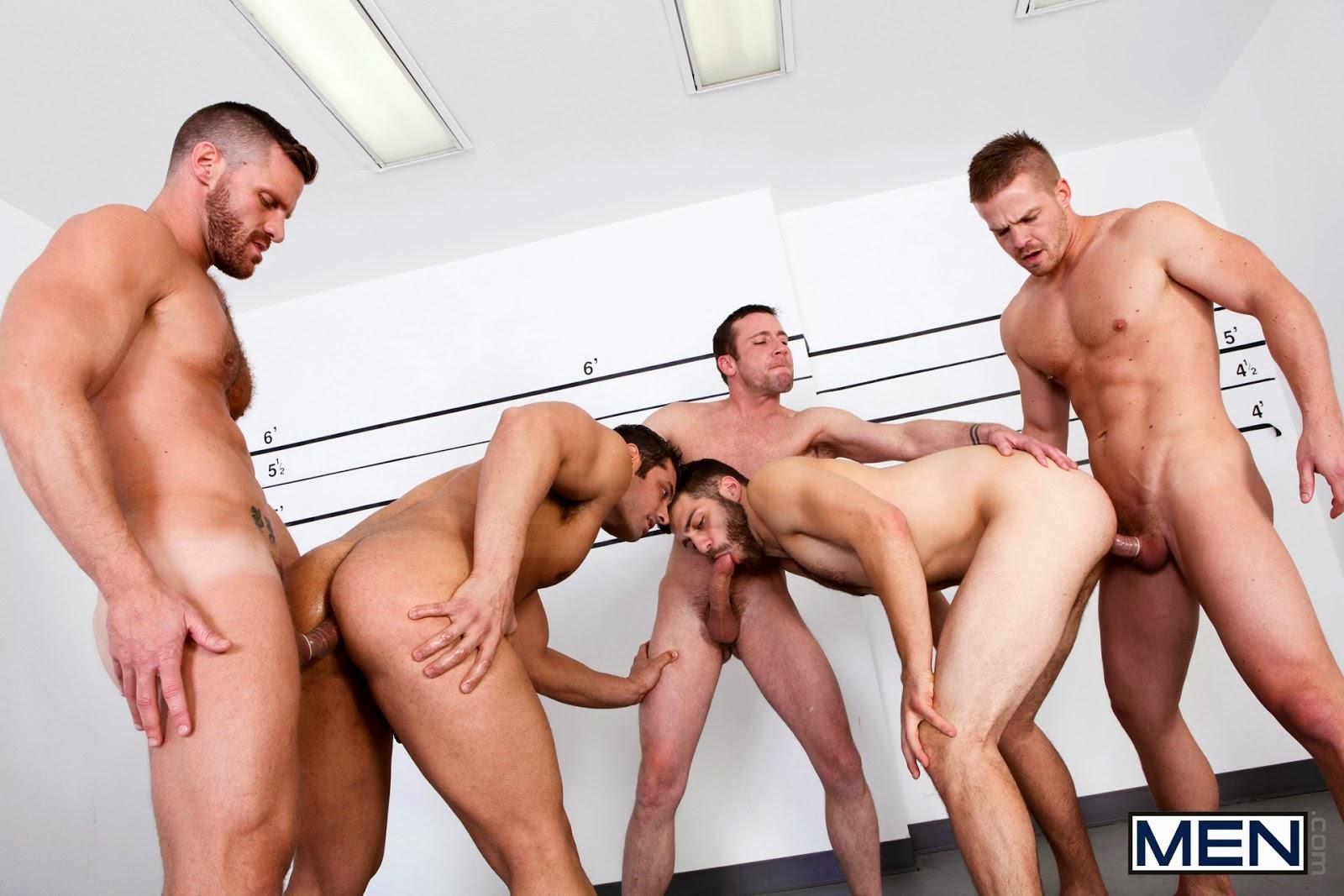 5 machos na suruba gay