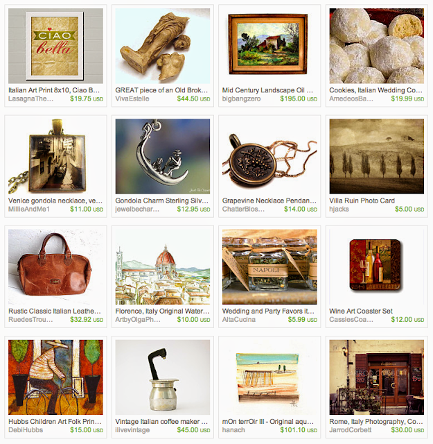 Italy inspired gifts on Etsy