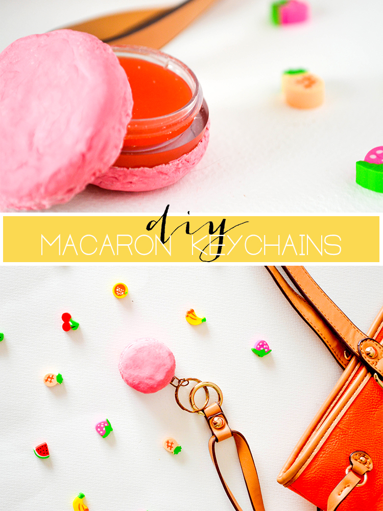 DIY MACARON KEYCHAINS! With lipbalm compartments! #diy #macaron #crafts #beauty