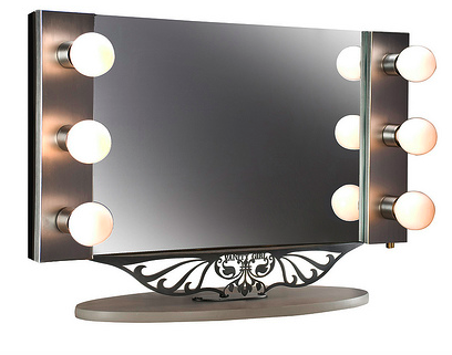 Lighted makeup mirror supplement your beauty with a for Beauty mirror