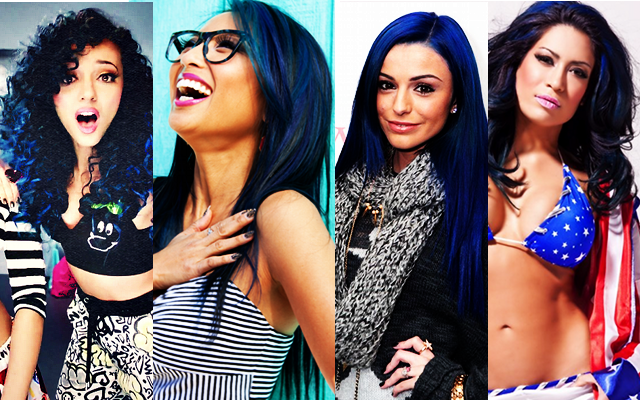 Melina Perez blue hair, little mix, jade thirlwall blue hair, wwe divas, cher lloyd blue hair, jeannie mai hair, wrestlemania xxx, summerslam 2013, blue hair, jade thirlwall, melina perez, damien sandow, money in the bank 2013, cher lloyd, jeannie mai