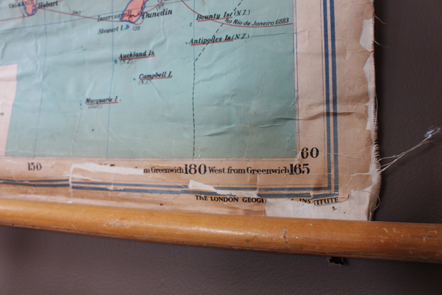 How To Repair A Vintage School Map Urban Spool - Roll up map of us