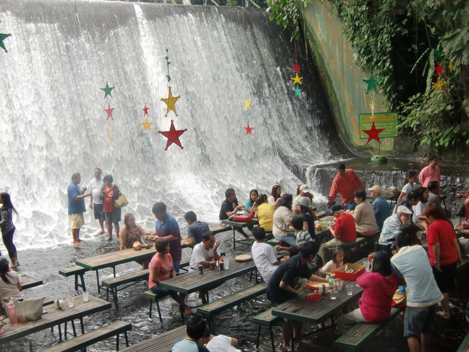 Pigging Out In Nyc Dining By The Waterfalls At Villa Escudero
