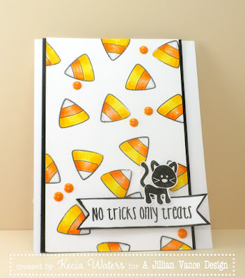 A Jillian Vance Design, Whimsie Doodles, Kecia Waters, Copic markers, candy corn, Halloween