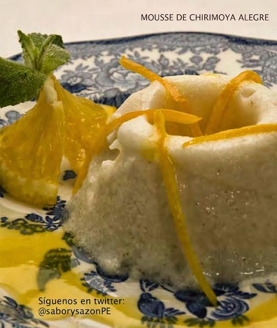 Receta de MOUSSE DE CHIRIMOYA ALEGRE - Postres - Recipes   HTTP://elpostreperuano.blogspot.com