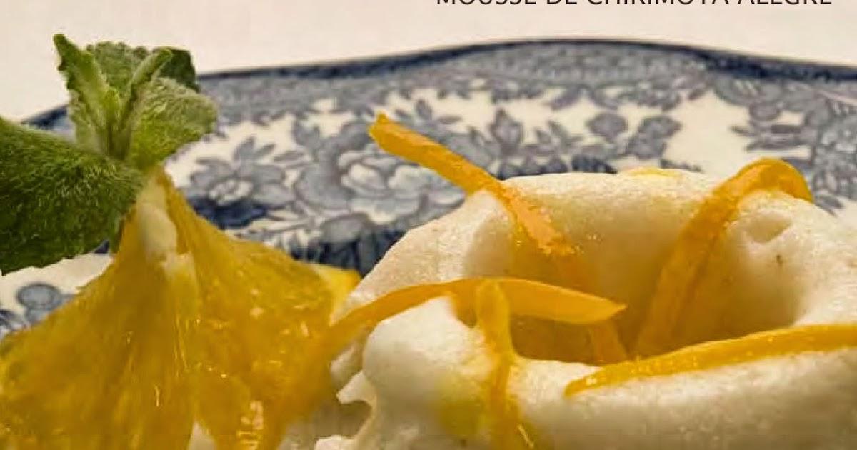 Receta de mousse de chirimoya alegre postres recipes - Como hacer mousse de yogurt ...