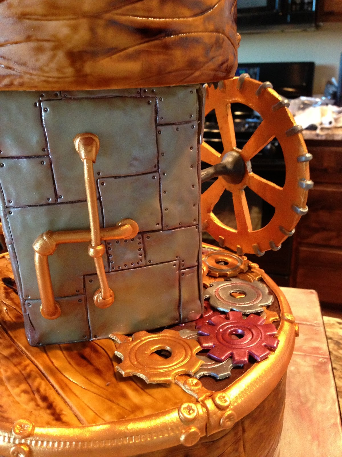 Delectable Cakes Steampunk Iron Man Cake