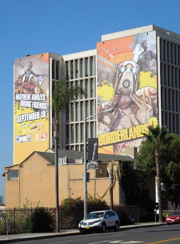 Giant Borderlands 2 billboards Sunset Strip