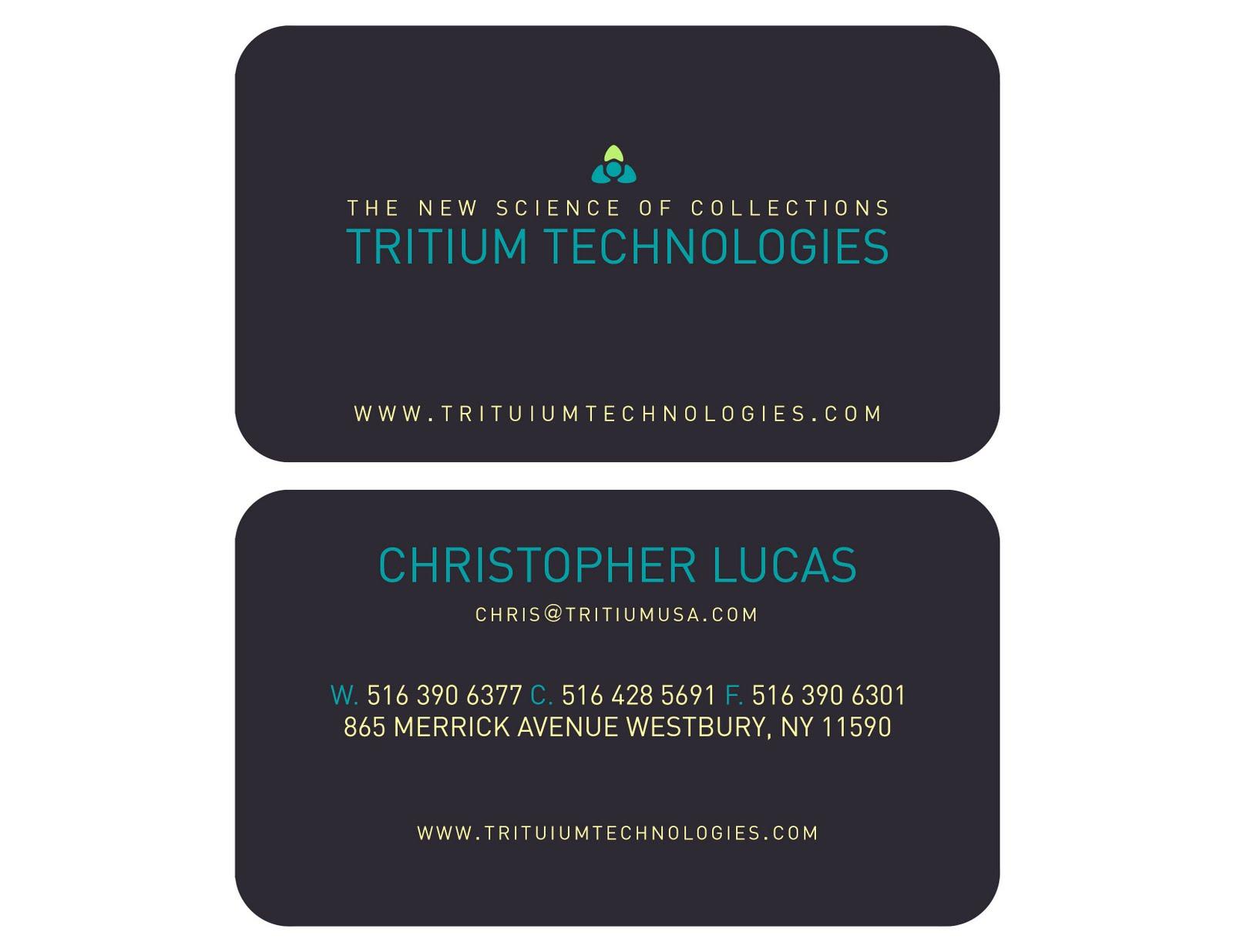 Christine orlando business card design print 35 x 2 typeface century gothic 2012 tritium card services colourmoves