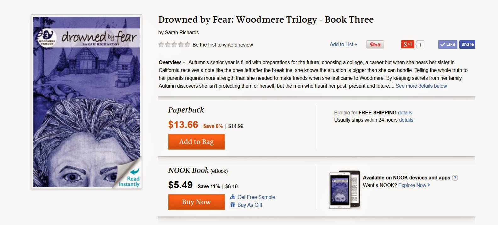 http://www.barnesandnoble.com/w/drowned-by-fear-sarah-richards/1120479076?ean=9781502536488